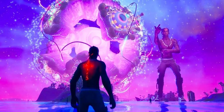 TRAVI$ SCOTT TAPE 12 MILLIONS SUR FORTNITE 1